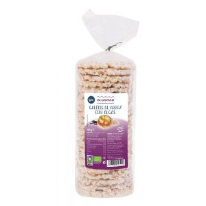 Galetes de arroz integral com algas